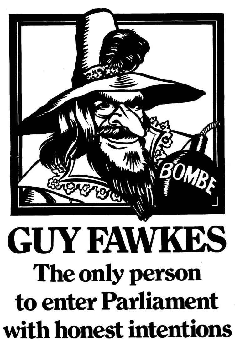 guy fawkes v for vandetta