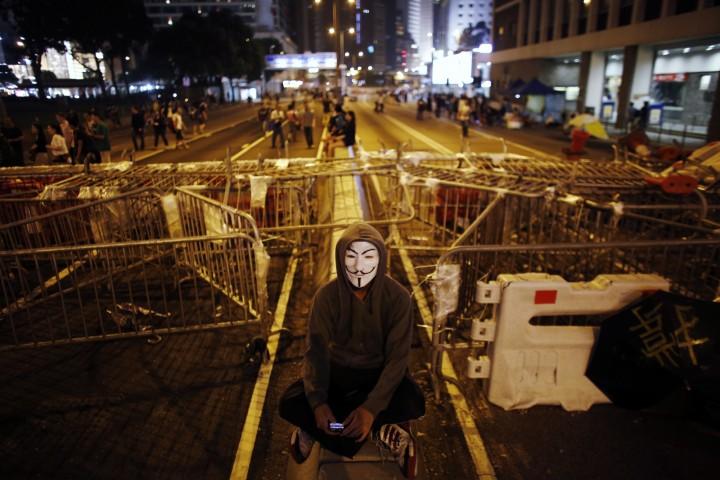 guy fawkes v for Vendetta-protests