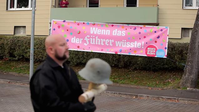 Neo-Nazi anti-racist parade